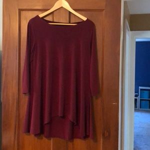 Alfani Wine Colored Tunic